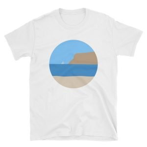Coronado Beach, Sunny Point Loma View T-shirt (White)