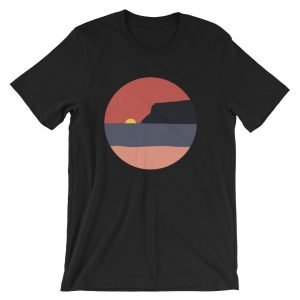 Coronado Sunset with Point Loma short-sleeve t-shirt (Black)