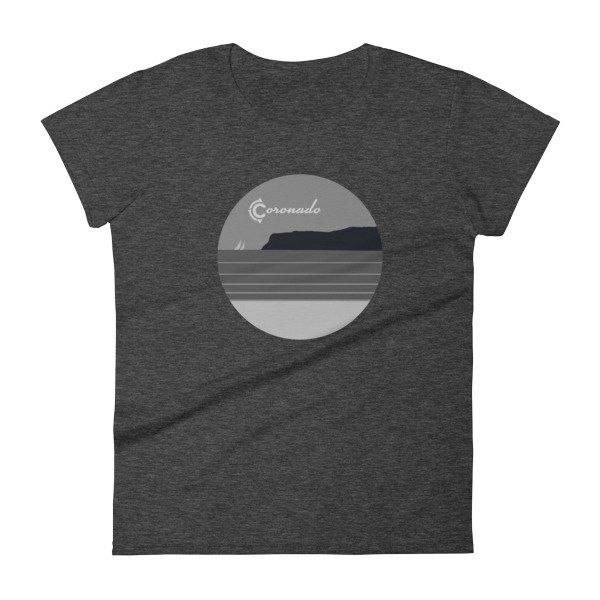 Coronado May Grey / June Gloom Women's T-shirt (heather dark grey)
