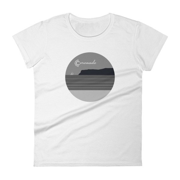 Coronado May Grey / June Gloom Women's T-shirt (White)