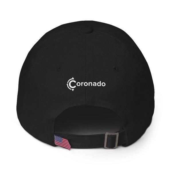 Coronado-Island-Cotton-Hat-(back-view-black)