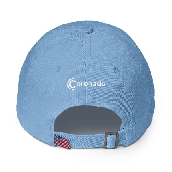 Coronado-Island-Cotton-Hat-(back-view-carolina-blue)