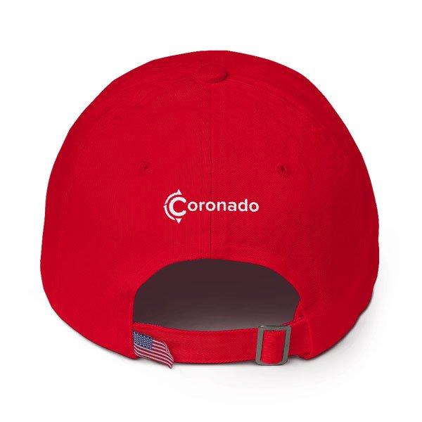Coronado-Island-Cotton-Hat-(back-view-red)