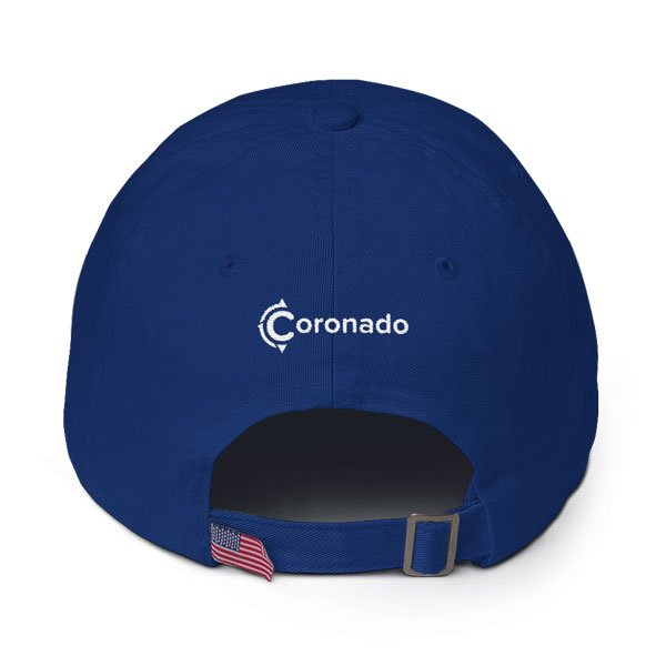 Coronado-Island-Cotton-Hat-(back-view-royal-blue)