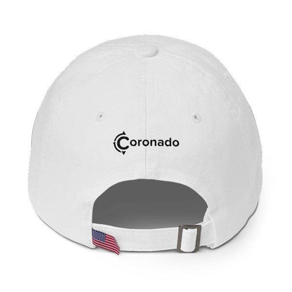 Coronado-Island-Cotton-Hat-(back-view-white)