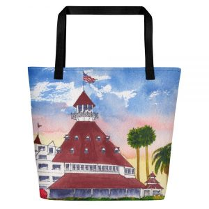 Coronado Hotel Del Beach Bag right