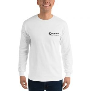 Coronado Classic Men's/Unisex Long Sleeve T-shirt (White)-front