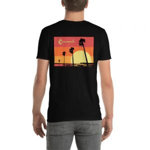 Coronado Sunset Palms Short-Sleeve Unisex T-Shirt (black back)