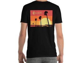 Coronado Sunset Palms Short-Sleeve Unisex T-Shirt (black back)